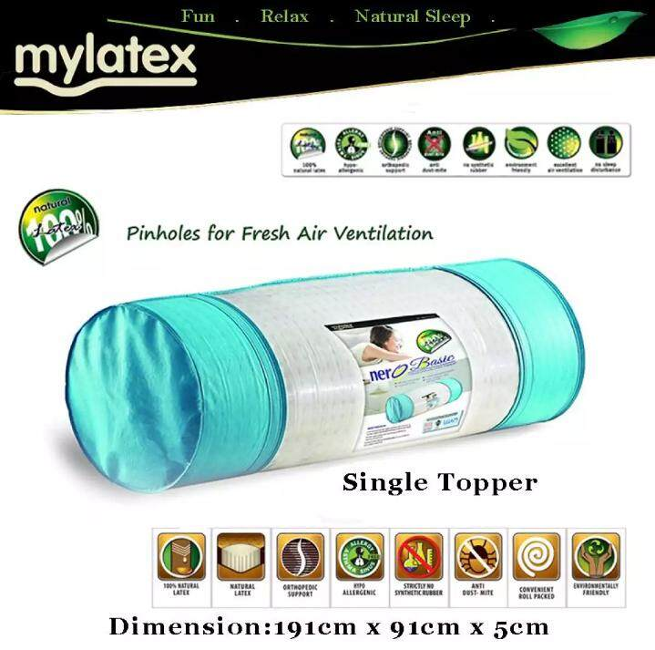 AEROFOAM MYLATEX Full Latex Pinholes Topper - NeroBasic Single Topper (FREE INSTALLATION FOR KLANG VALLEY ONLY)