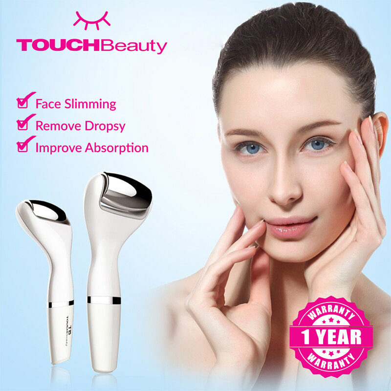 TOUCHBeauty Facial skin care TB-1587 Face & Body Massager with Stainless Steel Roller/Photon-activated Massage/Smart Sensor/Reduces wrinkles on the face and neck and tightens the skin