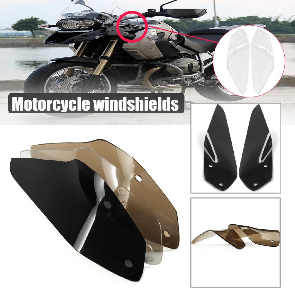 Moto Accessories - Windshield WindScreen Double Bubble for BMW R1200 GS ADVENTURE LC 2013-2017 - TRANSPARANT / BROWN / BLACK