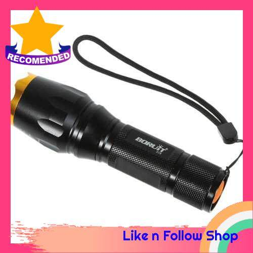 T6 2000LM Zoomable LED Flashlight Torch Zoom Lamp Light (Gold)