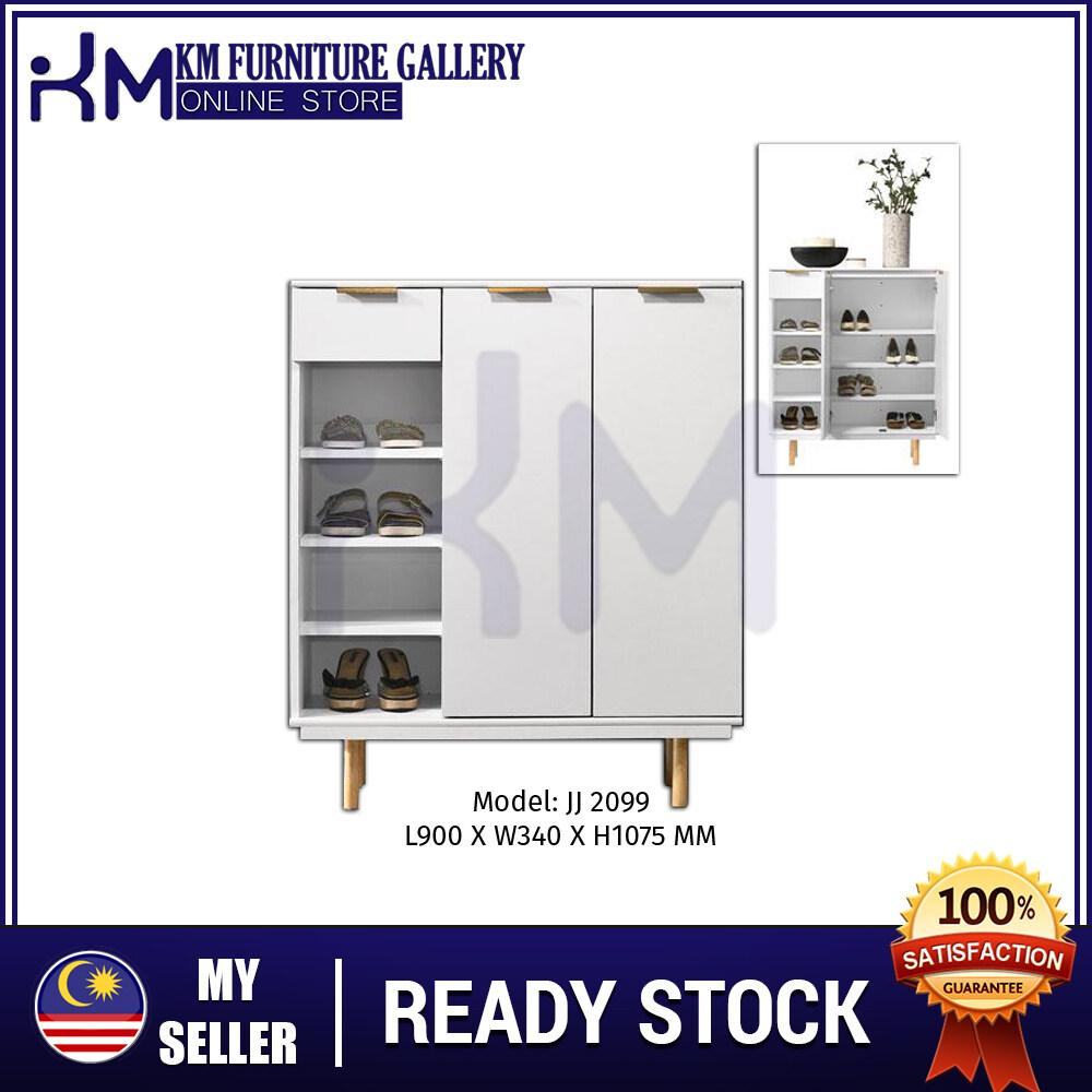KM Furniture Gallery 2 Door Shoe Cabinet/ Almari Kasut - KMJJ2099 KMJJ2099