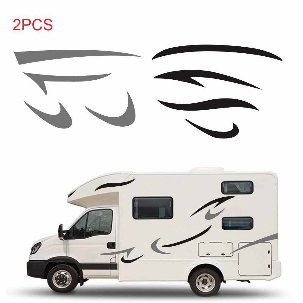 People's Choice Car Auto Body Sticker Self-Adhesive Side Truck Graphics Decals Fitment for Camper Caravan RV Trailer (Black)