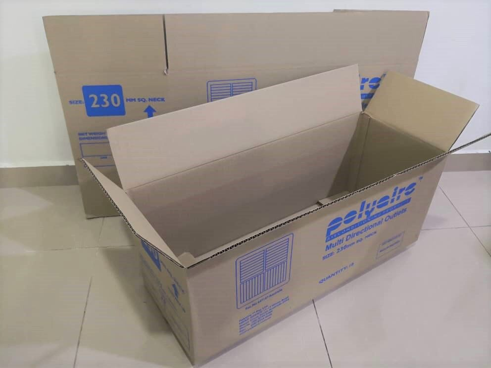 5pcs Printed Carton Boxes (L765 X W292 X H308mm)