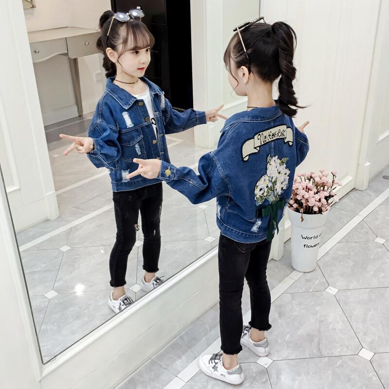 (Pre Order 14 days) JYS Fashion Korean Style Kids Girl Jeans Jacket Collection 518- 667