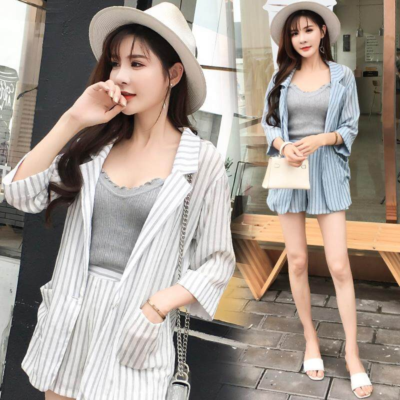 (Pre Order14 Days  JYS Fashion Korean Style Women Blazer +BottomSetCollection515-8988col515-8988--White -S