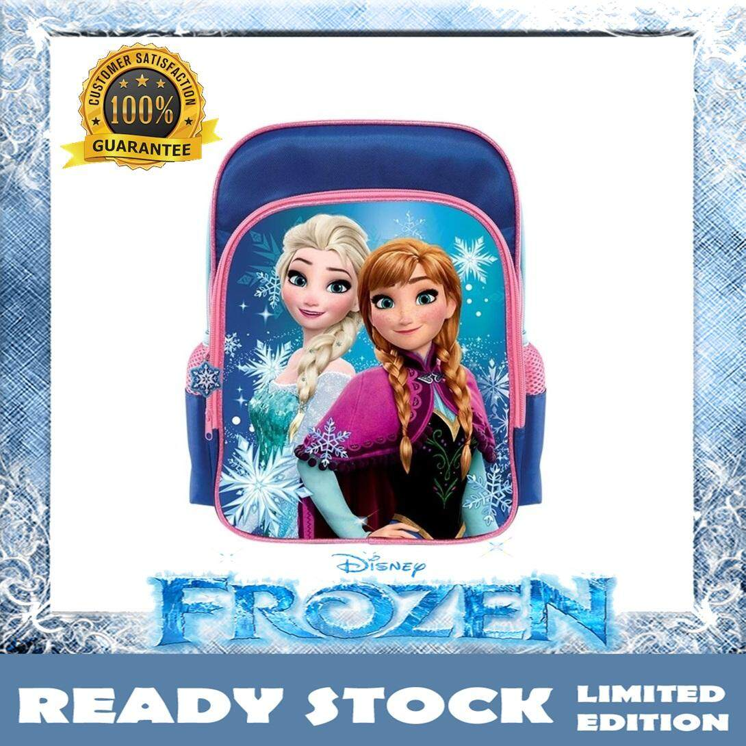 100% DISNEY AUTHENTIC Disney Princess Frozen Backpack School Bag 12 Inches - Elsa & Anna