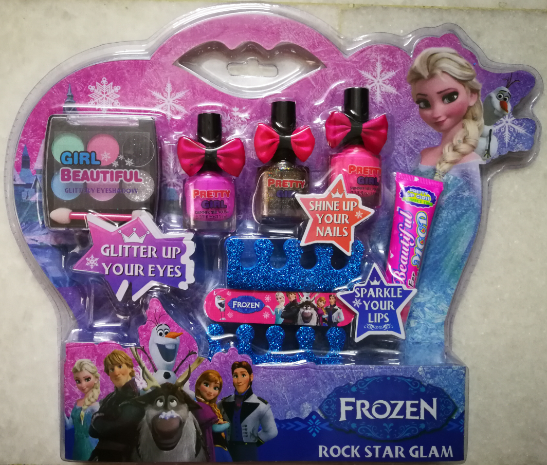 Frozen Makeup And Nail Polish Toys Set for Kids