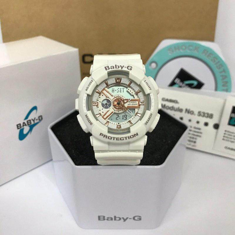 (Ready Stock) Baby_BA110 Women Sport Watch Duo W/Time 200M Water Resistant Shockproof and Waterproof World Time LED Light Girl Wist Sports Watches with 1 Year Warranty BA-110