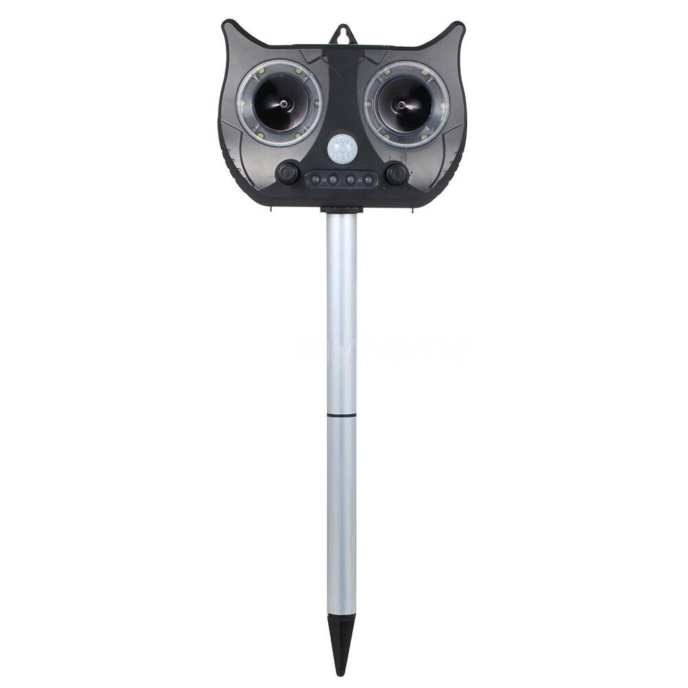 Lighting - Solar ULTRAsonics Pest Repeller Outdoor Weatherproof PIR Sensor Animal Repellent with with Flashing - BLACK / GREEN