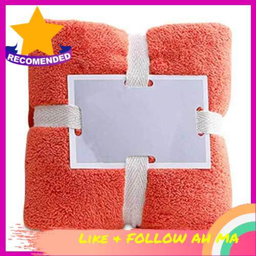 Best Selling Soft Fluffy Towels Coral Fleece Bathroom Towels Salon Towels Water Absorbent Fast Drying Multipurpose Soft Lint Free Towels for Spa Hotels Home (Orange)