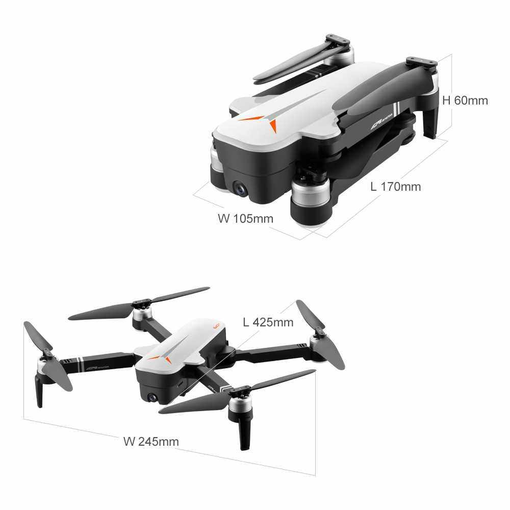 8811 RC Drone with Camera 4K Drone 5G Wifi Brushless RC Quadcopter GPS Optical Flow Positioning Way-point Flight Palm Control MV Production Gesture Photo Video Follow Me Portable Case (White)