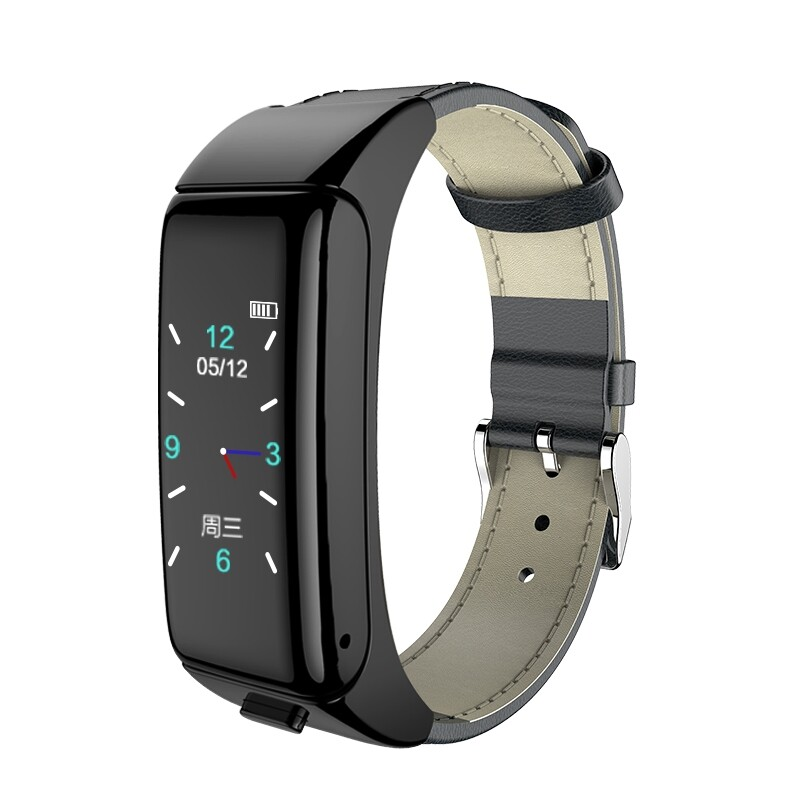 Smart Watch - B6 BLUETOOTH Calling Heart Rate Blood Presuure Monitor Call Rejection Convenient Earphone - GOLD-LEATHER / BLACK-STAINLESS / GOLD-STAINLESS / BLACK-LEATHER