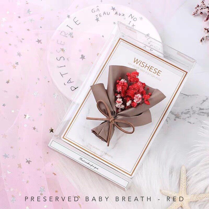 Real Preserved Flower · baby breath · hydrangea Creative Handmade Greeting Card Series   Calendar   Christmas