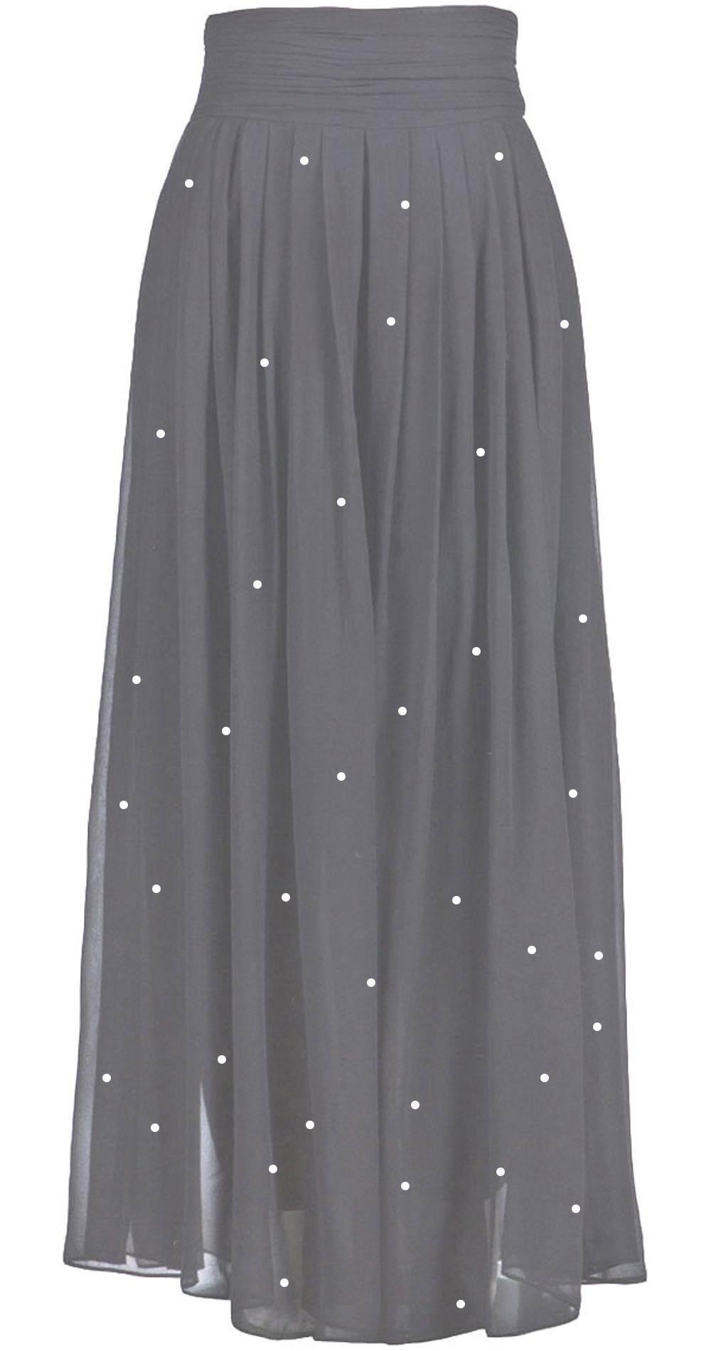 Crystal Chiffon Skirt For Muslimah - Starlet Chiffon