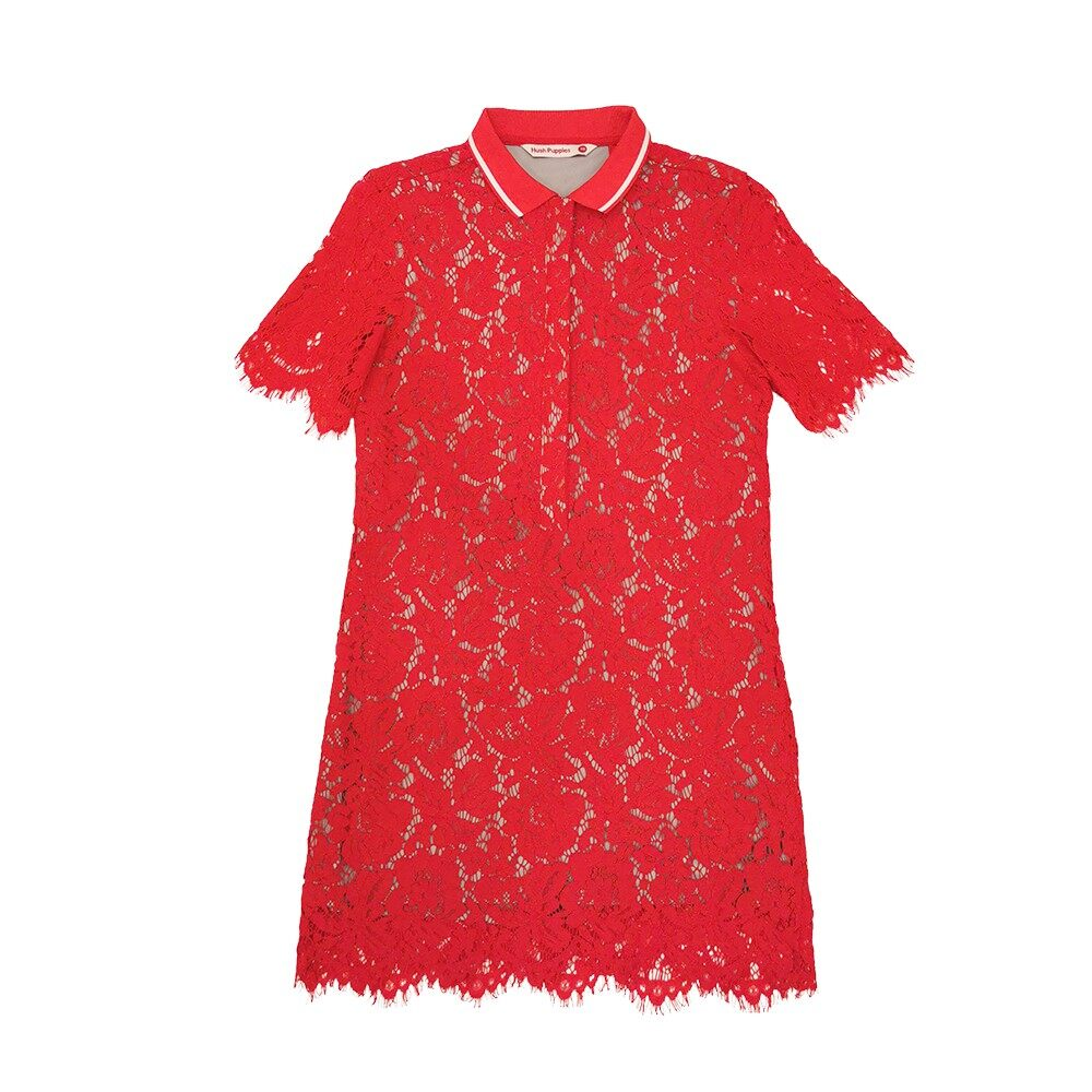 Hush Puppies Ladies Lace Dress With Collar  HLD824601