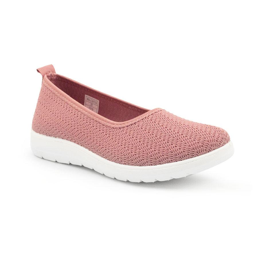 XES (Basic) Ladies BSLCBT02 Black/Pink Comfy Walk Sneakers