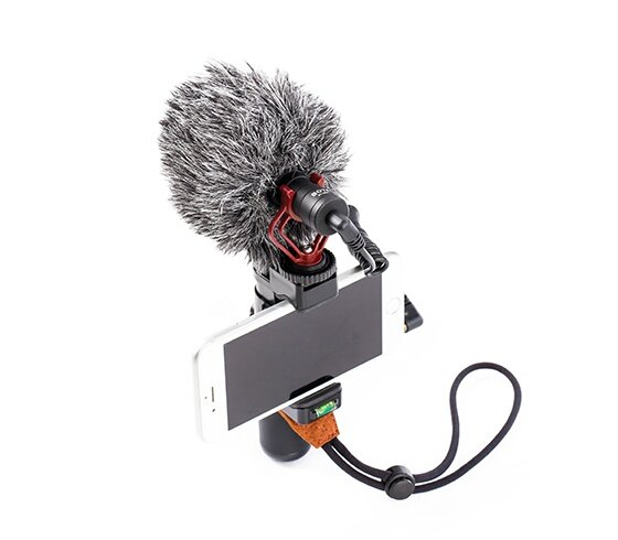 Boya Wired Microphones BY-MM1 with 3.5MM Audio Jack, Compatible with smartphones, No battery required, Professional furry windshield included