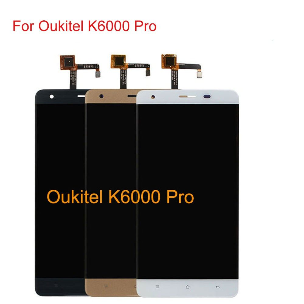 For Oukitel K6000 Pro LCD Display Touch Screen Digitizer Panel Assembly + tools - BLACK / WHITE / GOLD