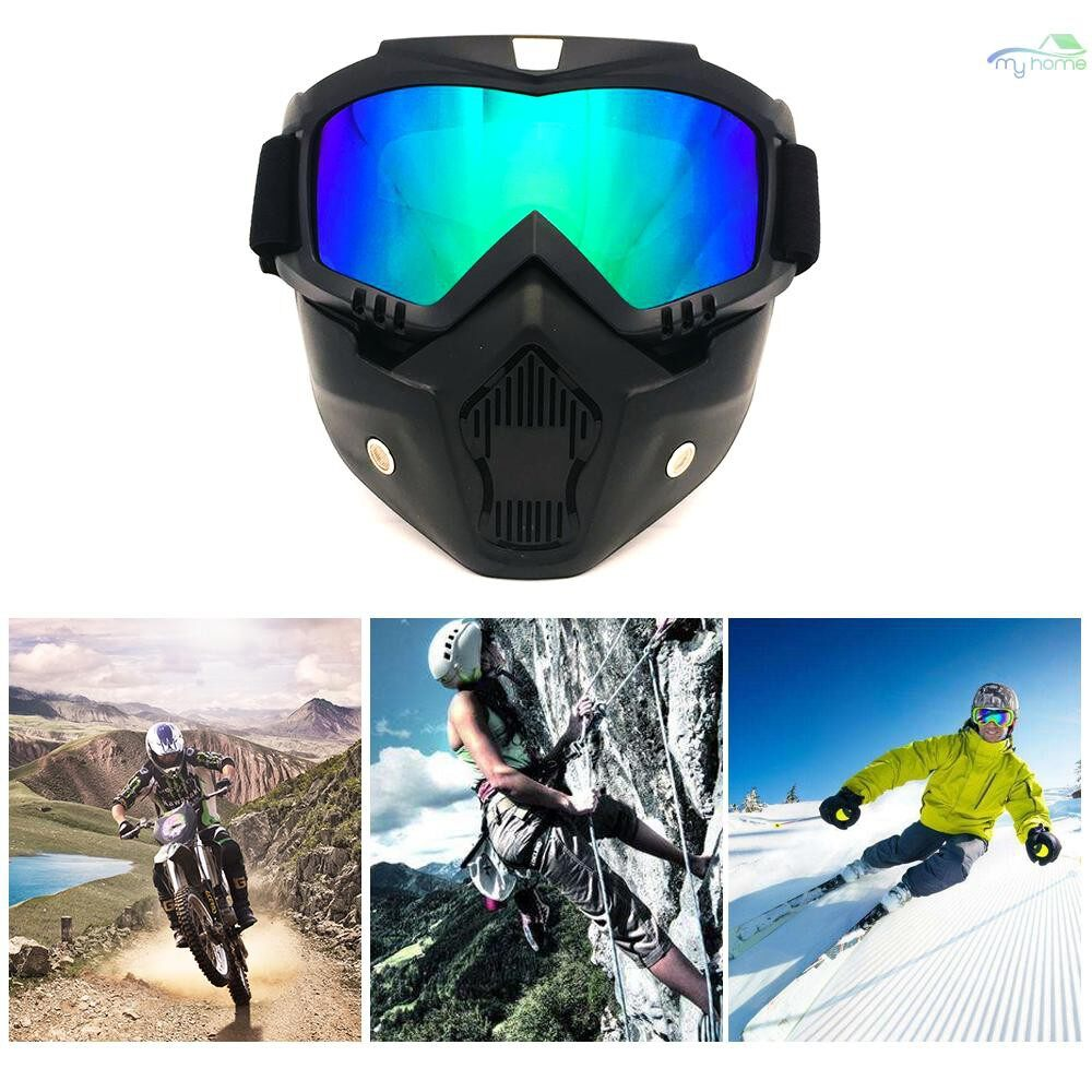 Protective Clothing & Equipment - BF655 Outdoor Goggles & Mask UV Protection Polycarbonate Scratch Resistance Goggles for Cycling - BLUE / WHITE / RED / YELLOW / GREY / TAN / TRANSPARENT / SILVER / MULTICOLOR