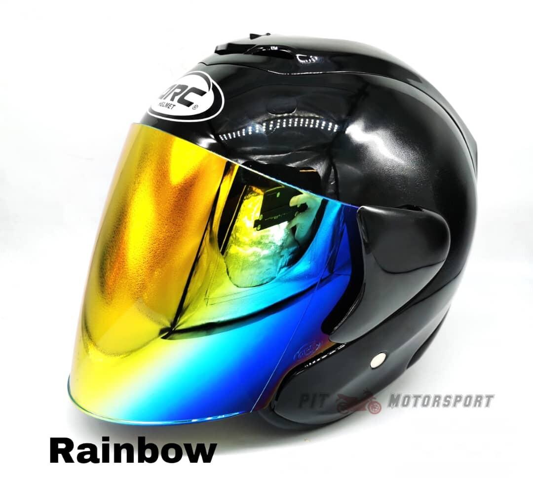 Black Helmet ARC RITZ Original Size L / XXL Add On Visor Clear / Smoke / Gold / Red / Blue / Rainbow