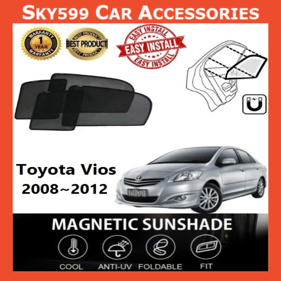 Toyota Vios 2008-2012 Magnetic Sunshade ?4pcs?