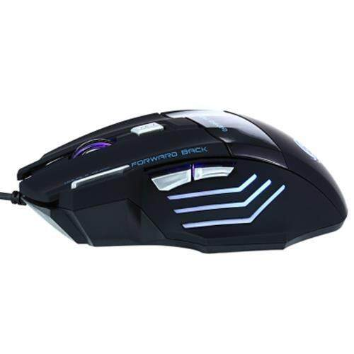JWFY USB WIRED LED OPTICAL GAMING MOUSE 5500DPI RESOLUTION WITH SEVEN BUTTONS 1.5M CABLE (BLACK)
