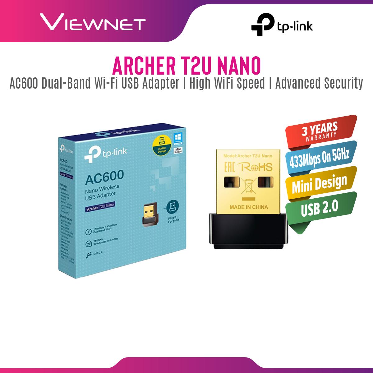 TP-Link ARCHER T2U NANO USB DB AC600 Nano Wifi Adapter