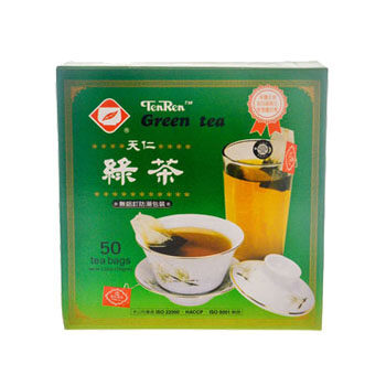 TEN REN BRAND TAIWAN GREEN TEA - 50 TEA BAGS