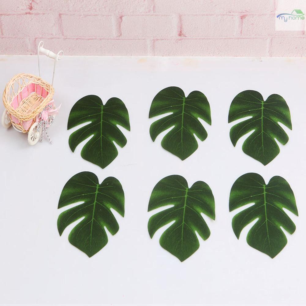 Home Decor - 5 PIECE(s) Simulation Plant Silk Cloth Fake Palm Leaves Flower Arrangement Ornament Monstera Leaf - S / M