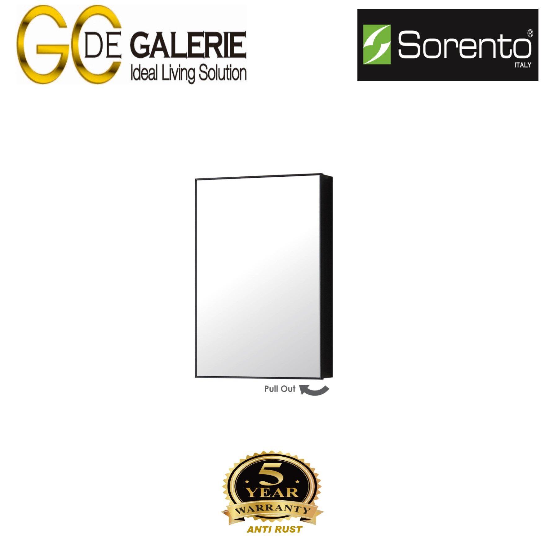 Sorento SRTMCB4060-BL Bathroom Aluminium Mirror Cabinet