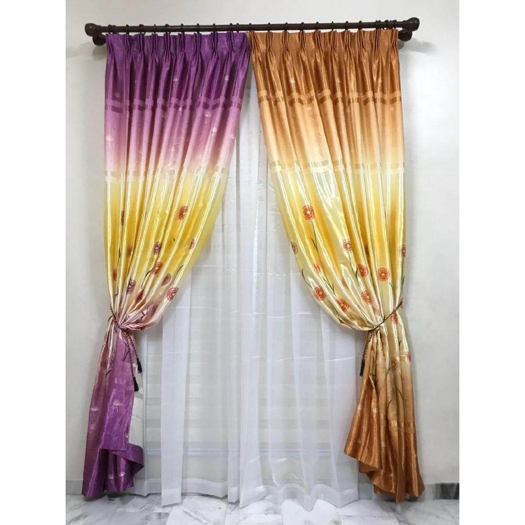 KKC Symphony - Normal Curtain With Hook or Eyelet Style ~ Ready Stock & Ship from Malaysia