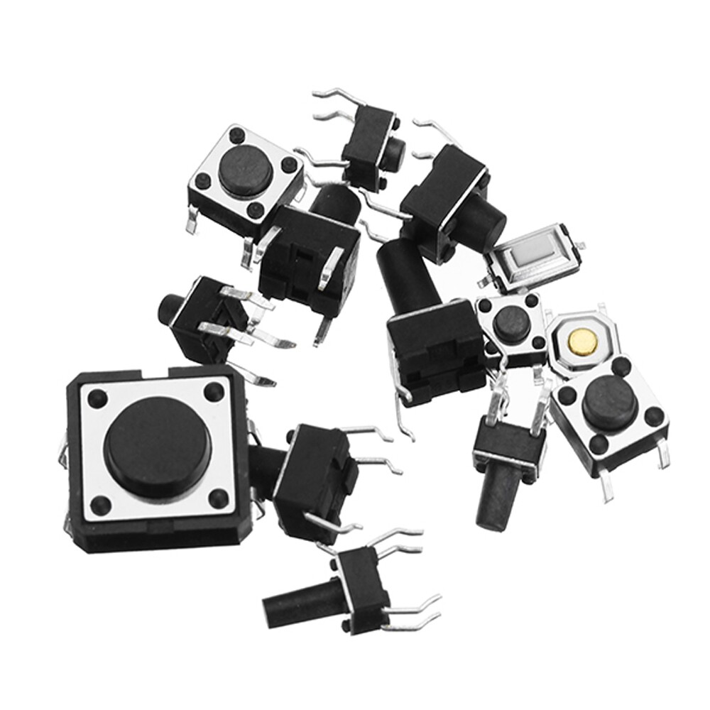 DIY Tools - Total 120 PIECE(s) Tactile Tact MINI Push Button Switch Packet Micro Switch Bags - Home Improvement