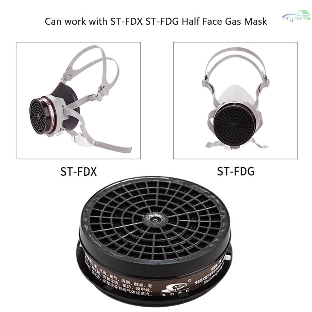 Protective Clothing & Equipment - STRONG ST-LDH3 Filter Cartridge Organic Vapor Gas Protection for ST-FDX ST-FDG Half Face Gas Mask - BROWN