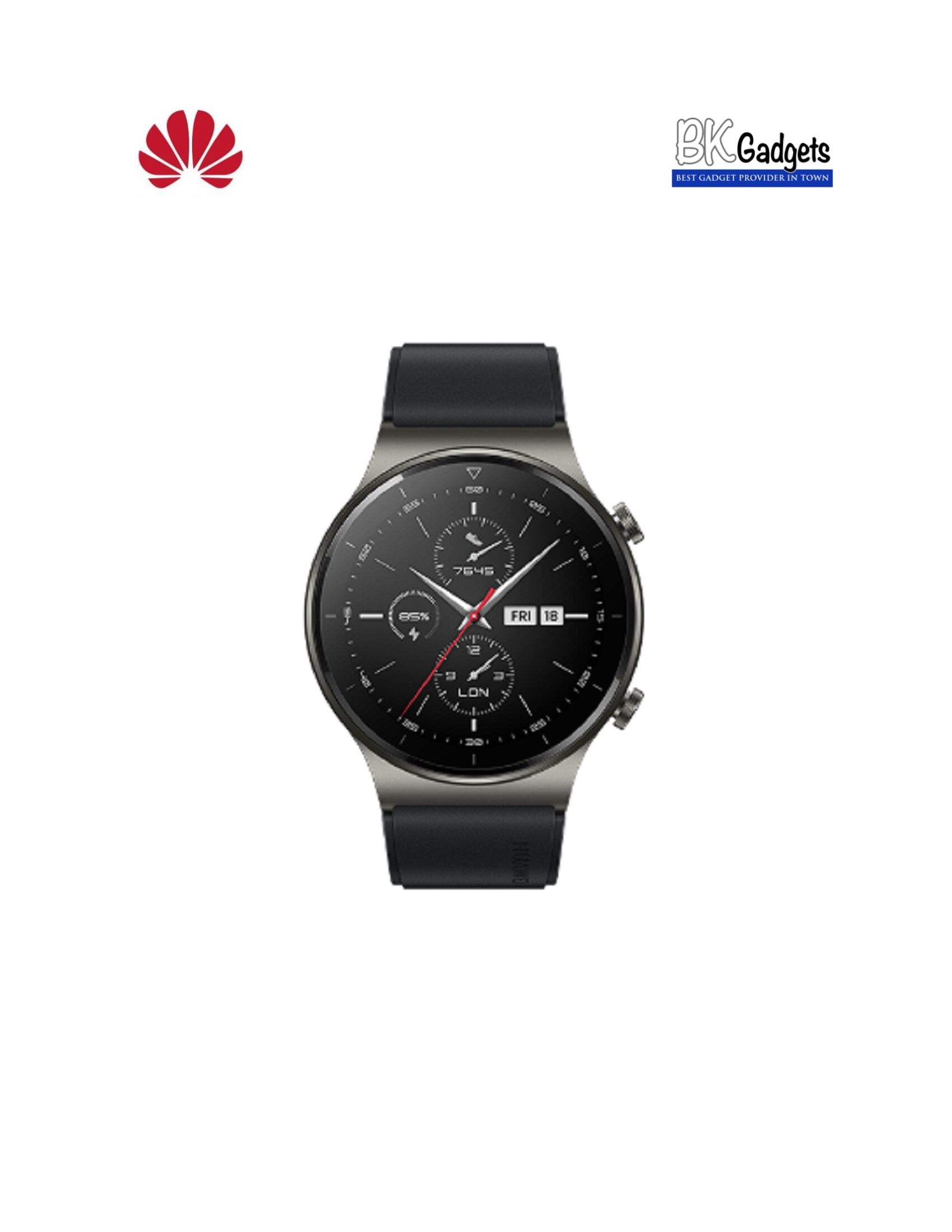 HUAWEI WATCH GT2 Pro Night Black 47mm + FREE STRAP