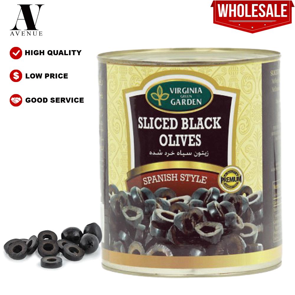 Virginia Green Garden Sliced Black Olives 1.5 Kg زيتون أسود شرائح