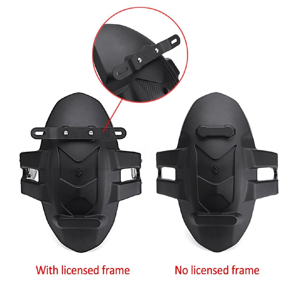 Moto Accessories - Motorcycle Rear Wheel Fender Cover Splash Guard Mudguard Bracket Solid Universal - NO LICENSED FRAME