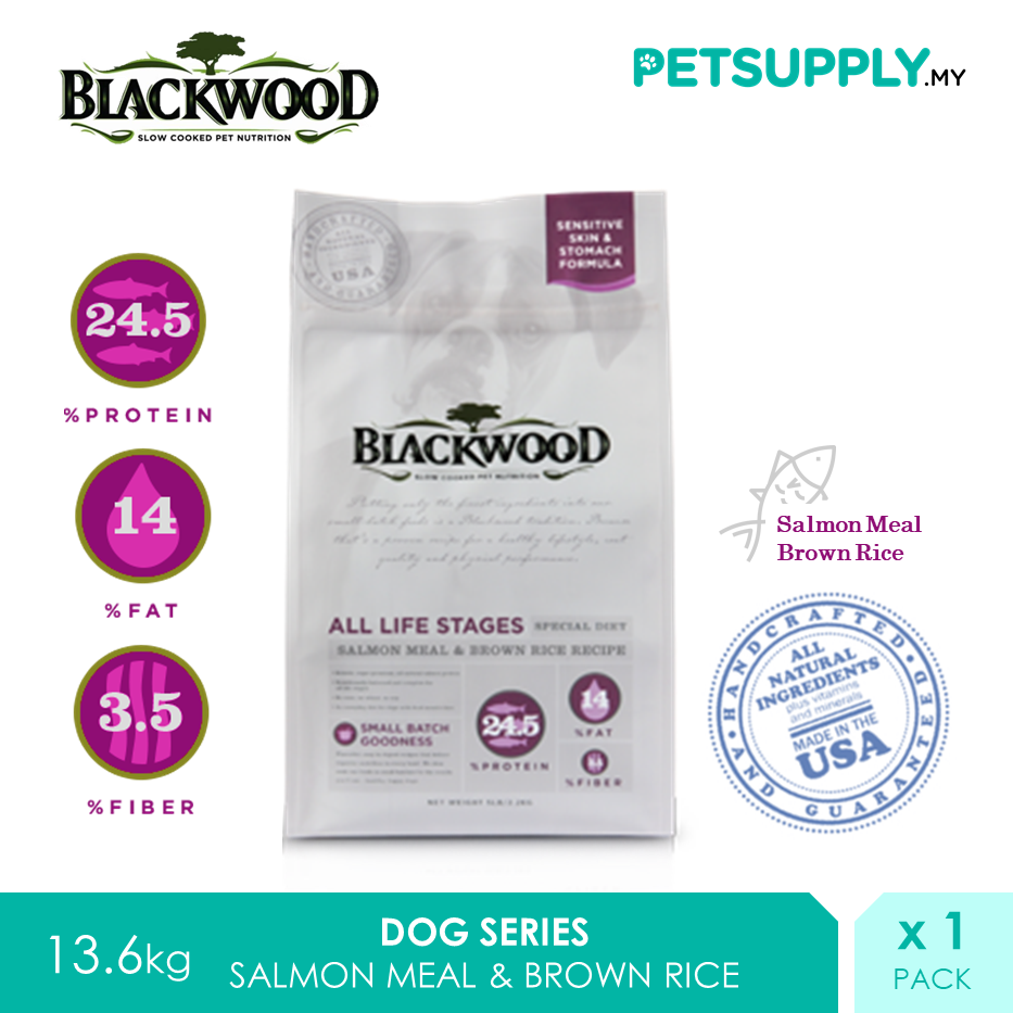 Blackwood All Life Stages Salmon Meal And Brown Rice Recipe Dry Dog Food 13.63kg [Treat Snack - Petsupply.my]