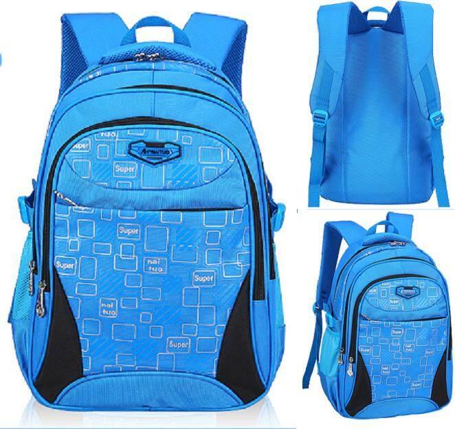 Ocean Blue Super Light Kids Primary School Bag