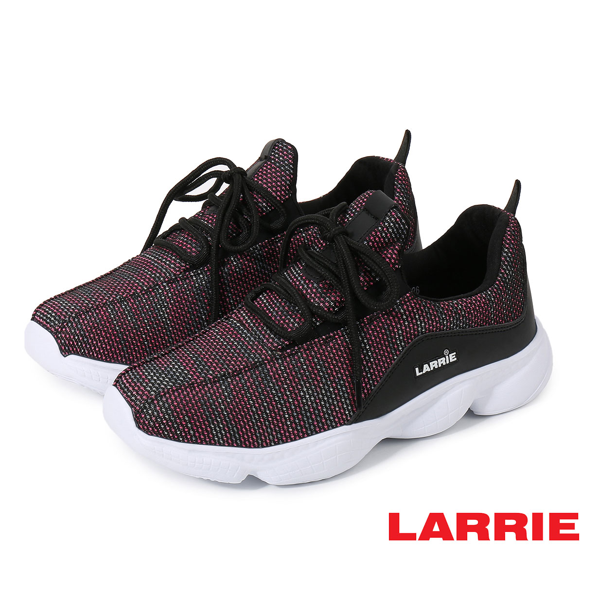 Larrie Pink Lace Up Lightweight Sporty Sneaker - L61915-KN01SV-26