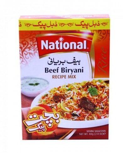 NATIONAL BEEF BIRYANI 90 GM (2 PACKS INSIDE)
