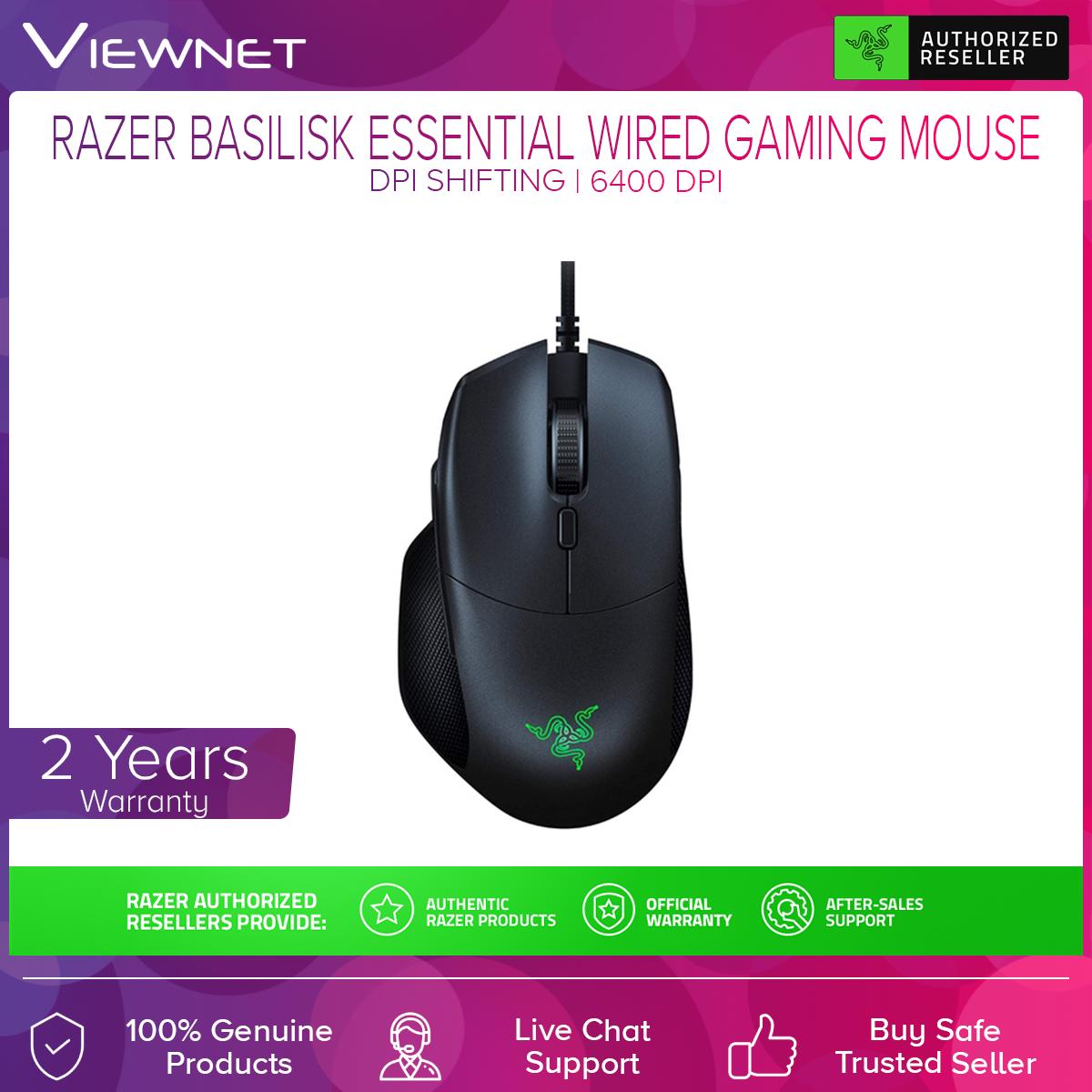 Razer RZ01-02650100-R3M1 Wired Basilisk Essential Gaming Mouse -6400 DPI
