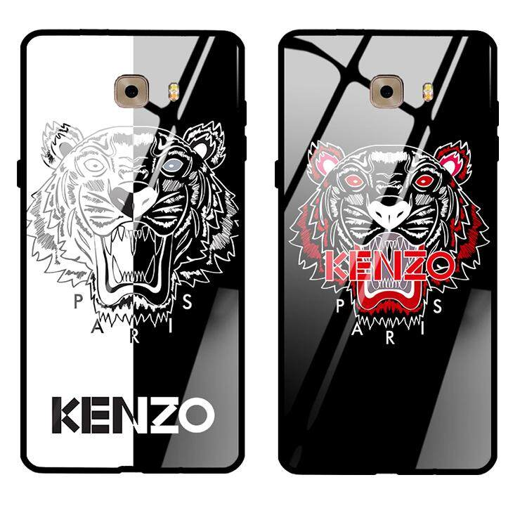 Samsung Galaxy Note9 Tempered Kenzo Casing Tiger Face Protective casing, Tempered Case Cover