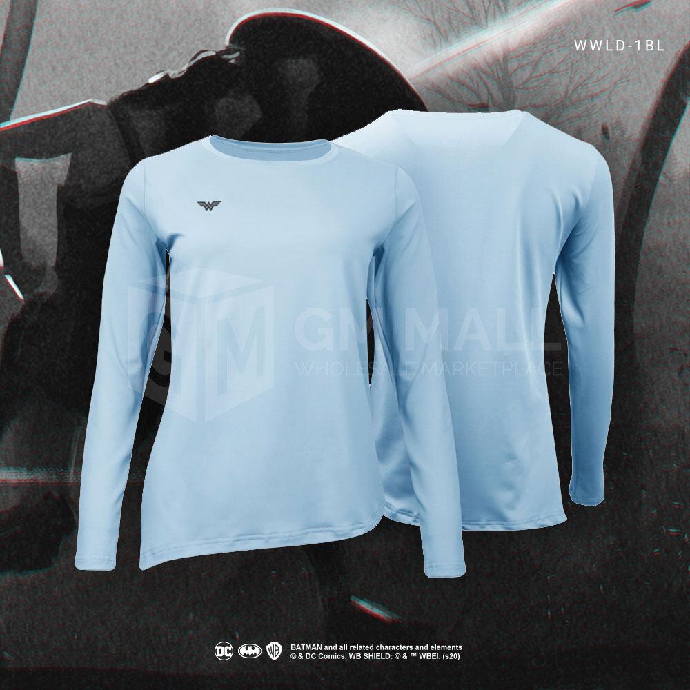 BATMAN DC Exclusive BLUE Women Yoga/Zumba/Aerobic Training Long Sleeves Tee –  Training Sport Running Shirt [WWLD-1BL]