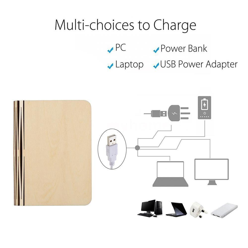Lighting - Rechargeable USB Port LED MINI Folding Book Light Shape Changable PORTABLE Desk Floor - WARM WHITE