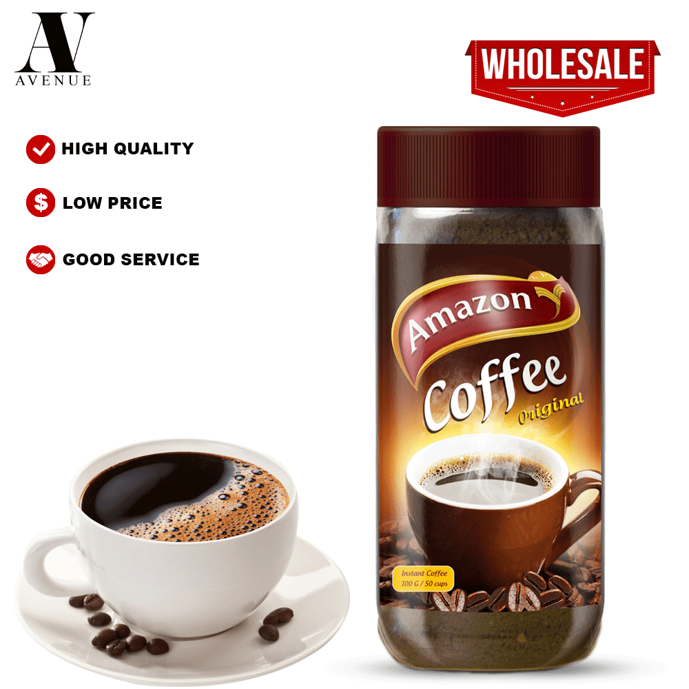 Amazon Instant Coffee Jar  100 g قهوة أمازون