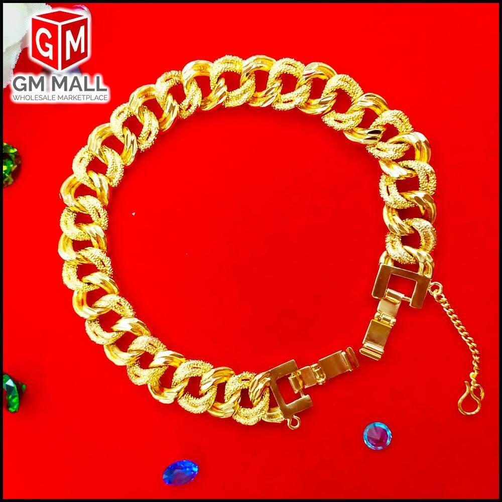 Emas Bangkok Jewellery - Rantai Tangan Coco Pasir 2 Line Gold Plated (Bracelet EB-2003)
