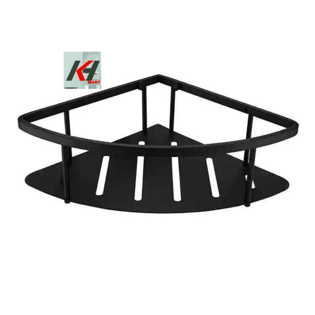 REGIS RYSSCB2102B 304 STAINLESS STEEL CORNER SHAMPOO BASKET(MATTE BLACK)
