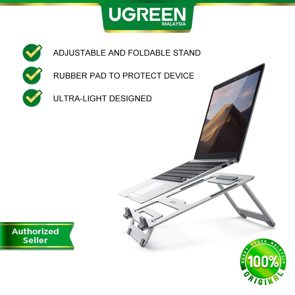 UGREEN Laptop Stand Adjustable Laptop Computer Stand for Portable Foldable Laptop Riser Stand for 10-16 inches Mac Notebook Asus Huawei Dell Hp Lenovo MSI
