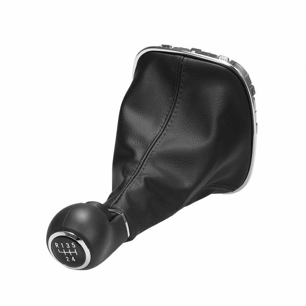 5 Speed Gear Shift Knob Manual Shifter Gaitor Boot Cover for Opel Corsa D Dust-proof (Standard)