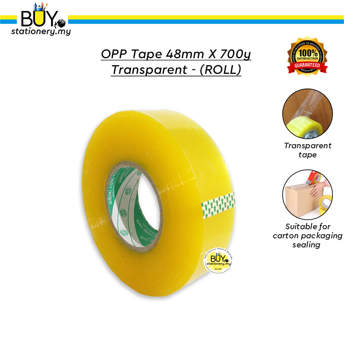 OPP Tape 48mm x 700y Transparent – (ROLL)